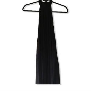 ASOS halter pleated black dress